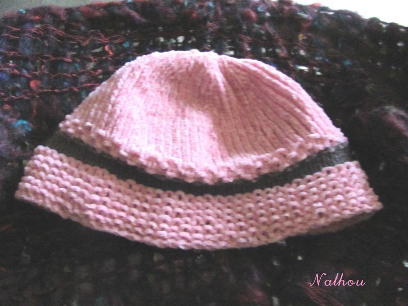 a160c7cd146d Les p tites créations de L Iloperle » Bonnet bébé 3 mois au tricot ...